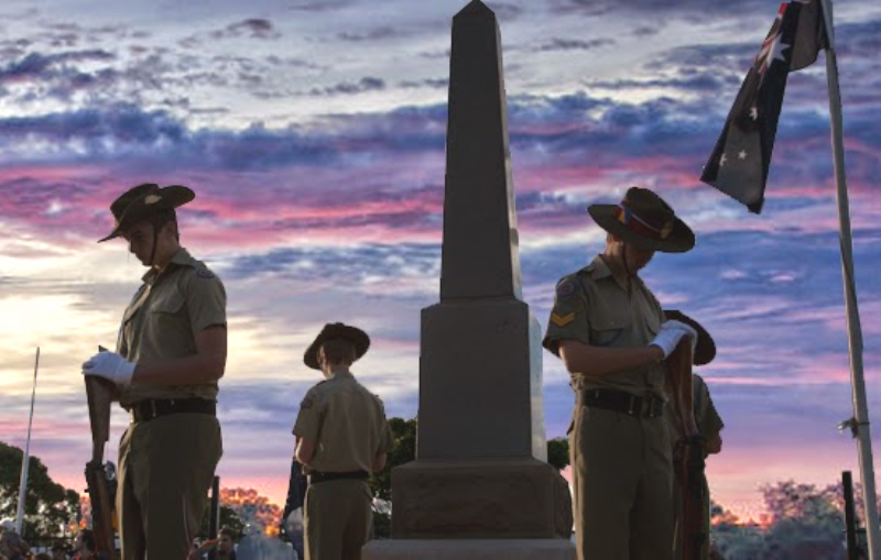 Flagpoles on ANZAC Day
